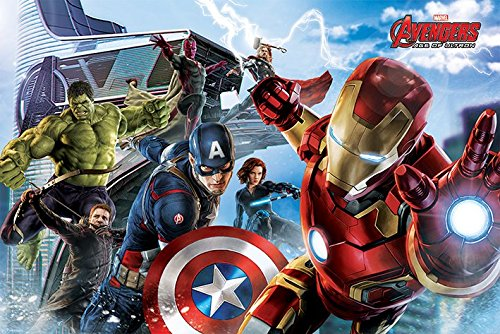 Poster The Avengers - Age Of Ultron - Gruppe - 91.5 x 61 cm | PostersDE