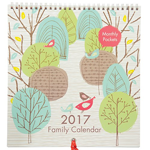 Family Calendar 2017 - K Two Products Family Organiser For Up To 5 People With Monthly Storage Pockets
