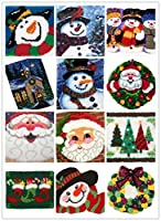 14 Model Christmas Latch Hook Kit Rug Christmas by BYT collection