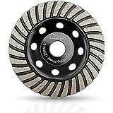SHDIATOOL Diamant slipning kopp hjul 125 mm/5 tum turbo rad för marmor betong murverk granit
