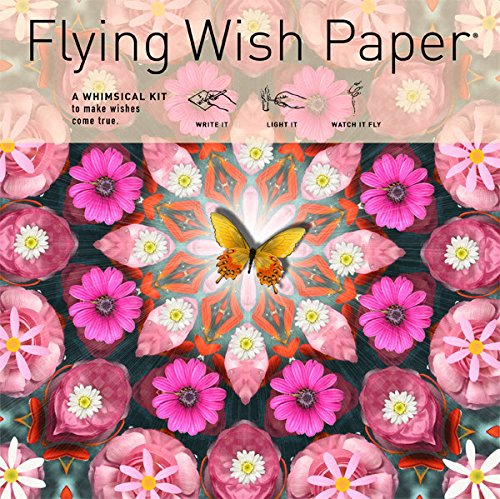 "Preisvergleich Produktbild Flying Wish Paper - Light it on FIRE, Watch it FLY - PINK BUTTERFLY - 7"" x 7"" - Large Kits"