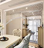 LIQICAI Türvorhang Kristall Perlen Vorhang für DIY & Hochzeit & Haus & Wanddekoration Anhänger Türen hängen - 5 Farben zur Verfügung (Farbe : Chroma, größe : Wide 200cm)