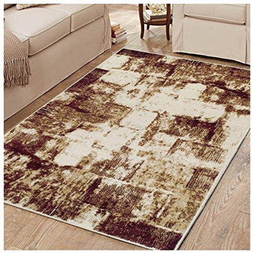 Superior Abstrakt Vintage Bereich Läufer Teppich, Polypropylen, rot, 2'17,8cm X 8' -