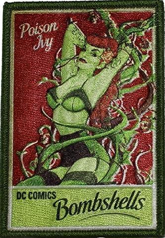 BATMAN, Poison Ivy Patch pièce, Officially Licensed DC Comic Hero Original Artwork,