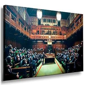 "Banksy leinwand Bild fertig auf Keilrahmen ! Pop Art Gemälde Kunstdrucke, Wandbilder, Bilder zur Dekoration - Deko / Top 100 ""Banksy"" Modern Bilder"