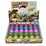 Huevos de Dinosaurio Toy Novedad Eclosión Huevo de Dinosaurio para Niños Paquete de Gran Tamaño DE 30 Piezas, Rainbow Crackle