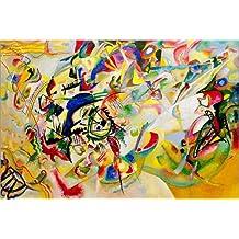 Cuadro sobre lienzo 120 x 80 cm: Composition VII de Wassily Kandinsky / akg-images - cuadro terminado, cuadro sobre bastidor, lámina terminada sobre lienzo auténtico, impresión en lienzo
