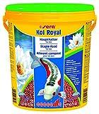 Sera 07130 KOI ROYAL LARGE 21 l - Hauptfutter für große KOI - hochwertige, schwimmfähige Pellets in 6 mm