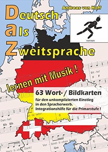 63 Wort-/Bildkarten zu Deutsch als Zweitsprache, lernen mit Musik: Musik öffnet der Sprache die Türen