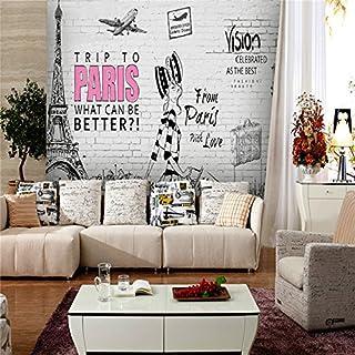 Große 3D 165,3weiß Brick Wall Graffiti Hintergrund Schlafzimmer TV Hintergrund Wand, XXL(13'6