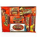 Reeses amerikanische Süßigkeits-Geschenkbox | Erdnussbutter-Schokoladen-Auswahl | Sortiment umfasst Erdnussbutter Cups Stücke Fast Break Bars Miniaturen | 9 Artikel im Briefkasten Friendly Kurious Kandy Sweets Geschenkbox