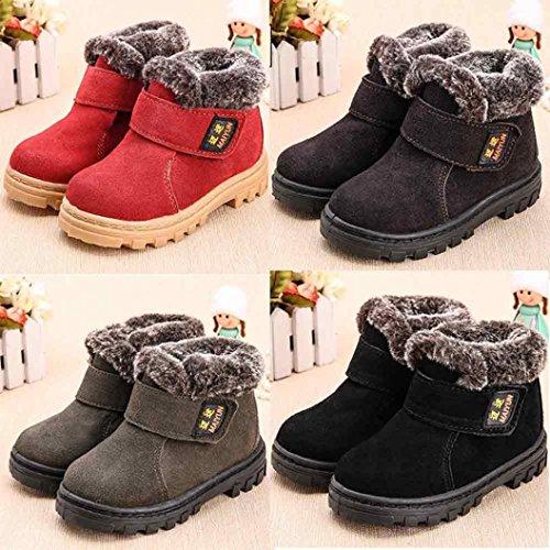 Jamicy® Baby Kind Kinder Mädchen Mode Winter Stil Baumwolle Stiefel warme Schneeschuhe Kaffee