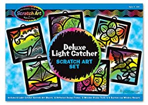 Melissa & Doug 3373 Scratch Magic Light Catcher Deluxe Set