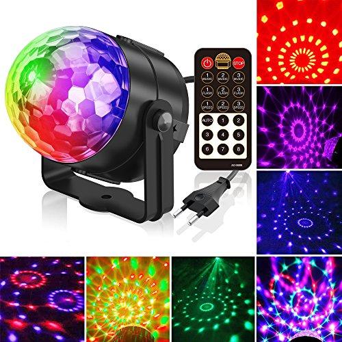 Fünf-lampe (Gvoo 5 Lampe, Lampe, Lampe, Lampe, 7 RGB, LED, 7 RGB, mit Fernbedienung, für Geschenk für Bühne, Party, Party, DJ, Disco Bars Clubs Karaoke)