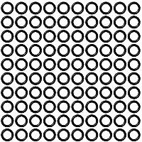 CyeeLife Dart Rubber o Rings Sports 100/300/500pcs (Negro, 100pcs)