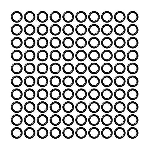 *Dart Zubehör Cyeelife Sports 100/300/500pcs 2BA Aluminium Welle ANTISKID Gummi O Ringe Unterlegscheiben (Black, 100pcs)*