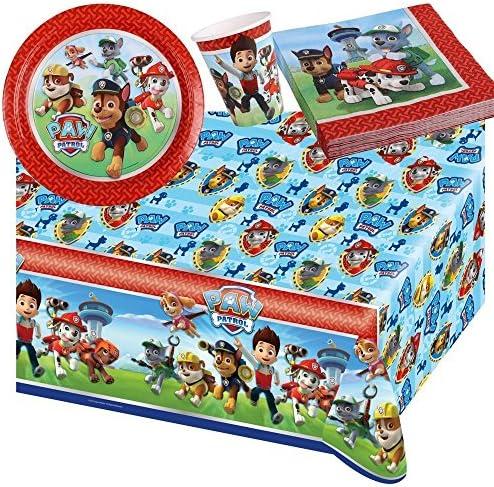 Nickelodeon jetable BPWFA-98 Vaisselle jetable Nickelodeon pour 16 Personnes, Motif Pat' Patrouille 659179