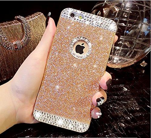 Vandot - 1X Case bordi + schiena, custodia per Apple iPhone 6Plus 5.5 [antiurto, protezione angoli], protezione antiurto, assorbimento, sottile, impugnatura mista, placca posteriore trasparente, col Diamond Gold
