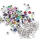 100 Stück Runde Form Metall Ösen, 5 mm Metall Scrapbooking Ösen Unterlegscheiben Schnalle Leder Handwerk Bekleidung Taschen Zubehör(Verschiedene Farben)