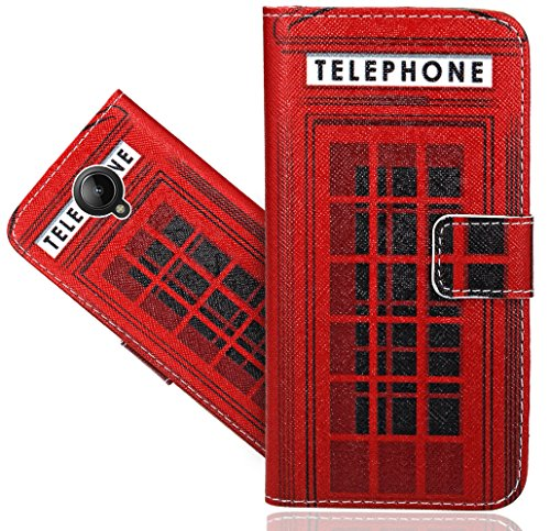 FoneExpert® Lenovo Vibe C2 Handy Tasche, Wallet Case Flip Cover Hüllen Etui Hülle Ledertasche Lederhülle Schutzhülle Für Lenovo Vibe C2