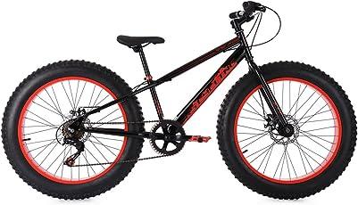 KS Cycling Kinder Fatbike 24'' SNW2458 schwarz-rot Fahrrad