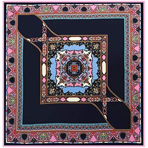 Goodsv Frühling Und Herbst Schal Schal Böhmischen Geometrischen Damen Twill Schal Fashion Retro Schal Schal (Color : 01) -