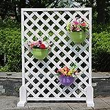 XING-0930 X-L-H Antike Holz Zaun weiße Massivholz Bildschirme abgeschnitten der Raster Steigen Rattan Rahmen Blume Rahmen Gartenzaun (größe : Square White 90 * 90)