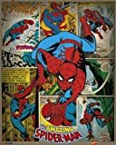 Pyramid International Spider-Man rétro Marvel Comics Mini Poster, Plastique/Verre, Multicolore, 40 x 50 x 1.3 cm