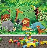 3D Wandtattoo Wandtattoo Schlafzimmer Wandstickerdschungel Zoo Tiere Fototapete Safari Kinder Schlafzimmer Kinderzimmer