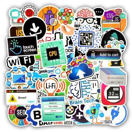 Programmiersprache Aufkleber Internet Html Software Wasserdichte Aufkleber für Geek Hacker Entwickler zu DIY Laptop Telefon Auto 50st
