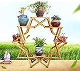 Edge to Blumenregale Kreative Echtholz Balkon Blume Sitzecke Indoor Topfpflanze europäischen Stil Holz mehrschichtigen Boden Fleisch Fleisch Regal