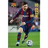 Grupo Erik - Póster de Fútbol, Fc Barcelona 2020/2021 Messi, 61x91,5 cm