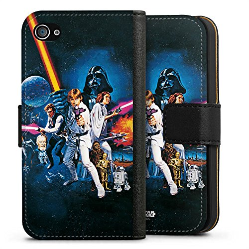 Apple iPhone 7 Hülle Premium Case Cover Star Wars Merchandise Fanartikel Episode IV Sideflip Tasche schwarz