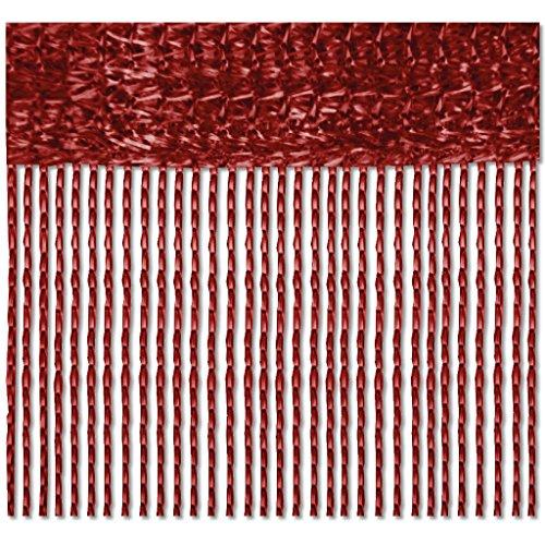 Bestlivings Fadenvorhang 90x240 Fadengardine Insektenschutz Raumteiler Auswahl: Rot - Bordeaux