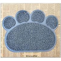 Elegante Alfombrilla de Puerta para Mascota, para Perro, Gato, Forma de Huella 40 x 30 cm
