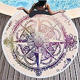 HBZZCL Motivi Geometrici Asciugamani da Spiaggia Tappetini da Yoga Asciugamani da Bagno Tappetini da Yoga Tappezzeria Protezione Solare Assorbimento d'Acqua Forniture per Il Bagno 150x150 cm E