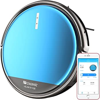 Proscenic 811GB Robot Vacuum Cleaner, Robotic Vacuum Cleaner with Boundary Magnetic Marker, Electric Control Water Tank(3 optional speeds) & Slim Design for Hard Floor and Carpets