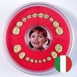 Scatolina per Denti da Latte Firsty Round (Rosso, Ragazzo, Ragazzi) AFB Italiano