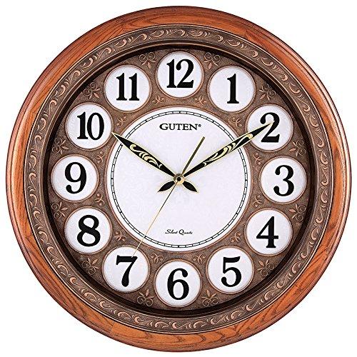 Horloge mural y-hui salon de bois rond silence horloge mural table de quartz gd919,20 pouces (50,5 cm) de diamètre, 51 cm frais et bois massif floral gd936