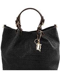 Tuscany Leather TL KeyLuck - Sac shopping TL SMART en cuir imprimé tressé - Grand modèle - TL141568