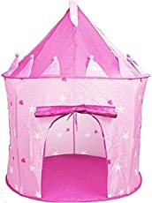 Vivir High Quality Foldable Castle Playhouse Tent with Portable Carry Bag, Tent for Outdoor / Indoor (Pink)
