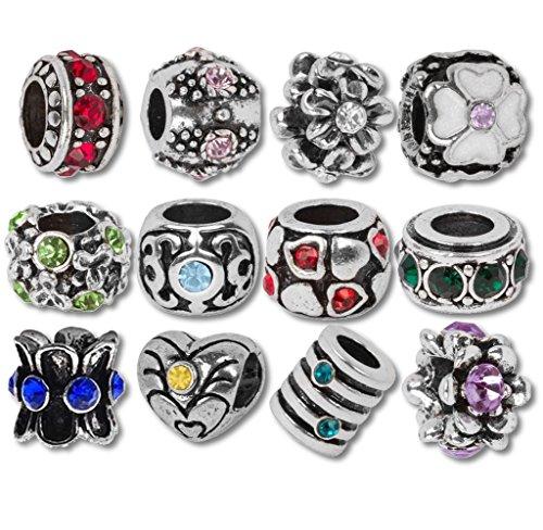 Monatsstein Beads und Charms kompatibel mit Pandora Armbändern (Ritter-schatz-schmuck)