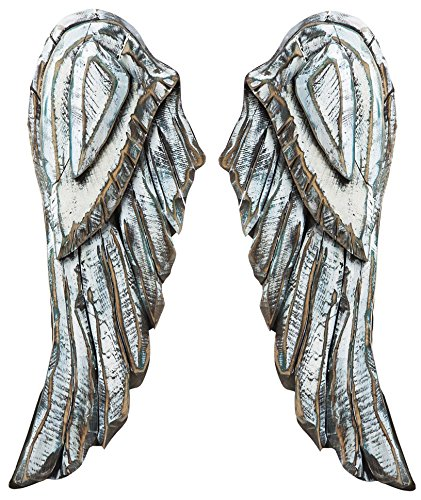 Cape Craftsmen Distressed Wood Angel Wings, 2 pezzi