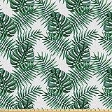 ABAKUHAUS Blatt Stoff als Meterware, Palm Mango