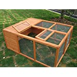 BUNNY BUSINESS Fully Folding Sheltered Rabbit Run Hutch, 48-inch 11