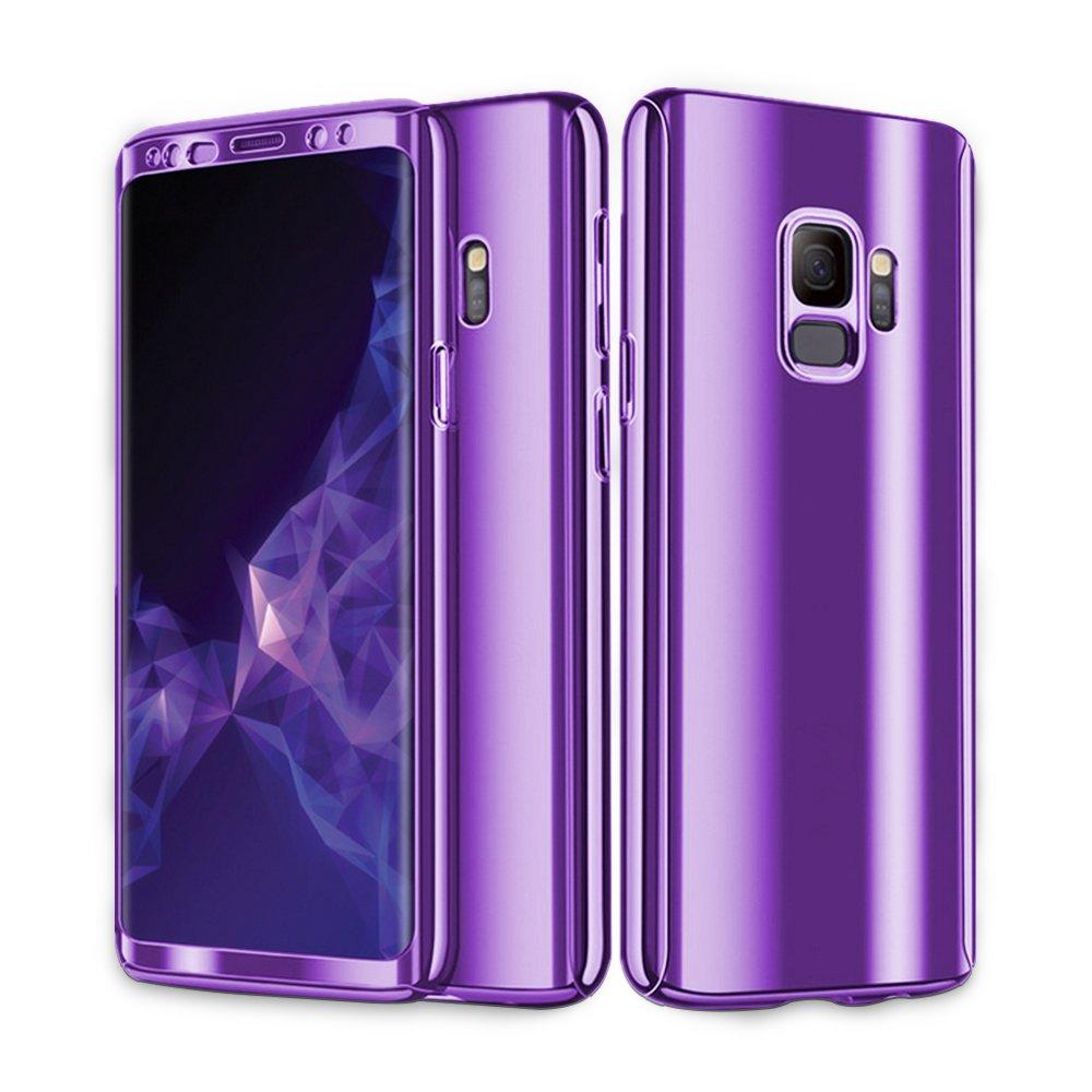 cc07904b Comprar Beryerbi Funda Compatible para Galaxy S9 Plus, 3 en 1 PC Hard  Carcasa 360 ° Complete Protection Ultra-Delgado Anti-Arañazos Caso Original  ...