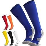 Northdeer Calcetines de fútbol para niños, jóvenes, Calcetines Altos hasta la Rodilla, Calcetines Deportivos, Calcetines de E