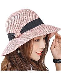 Qingsun Women Sun Hat Straw Summer Beach Caps Soft Large Brim Fisherman  Bucket Hats 3 Colors 7188d1f0ddf8