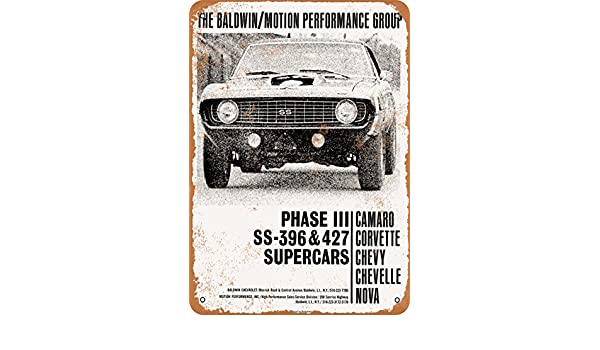 1968 Baldwin-Motion Performance Cars Metal Sign Vintage Look Reproduction