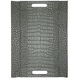 Freeform Tablett, Wendbar, Kroko Grau, 55x 41cm